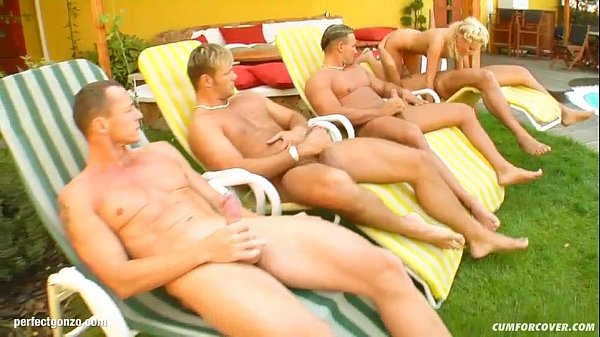 Group cumshots for Kissy on Cum For Cover in a ...