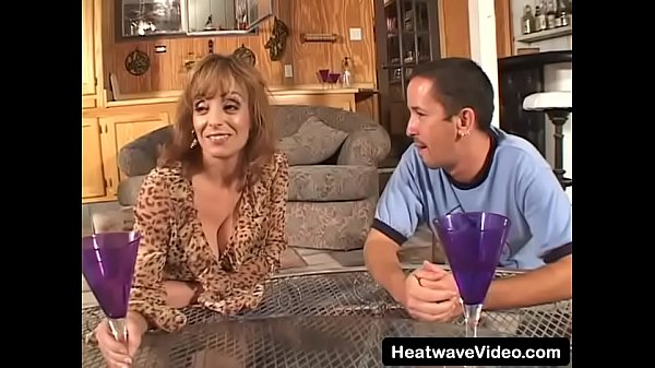 Charm busty stepmom spread her long legs for step son and looks his at with a indecent smile