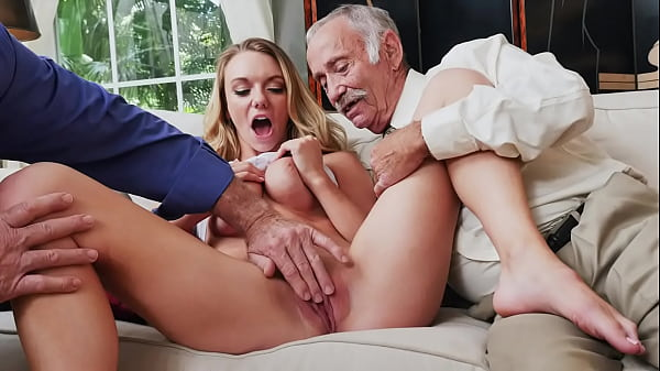 BLUE PILL MEN - Busty Blonde College Student Molly Mae Earns Her Keep By Pleasing Old Men Thumb