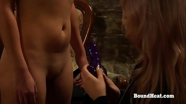 The Submission of Sophie: Submissive Lesbian Slave Receives Big Vibrating Strapon From Mistress