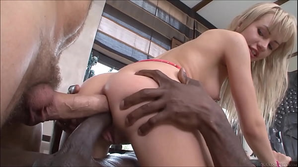 Double Anal for HOT Little Blonde Cum-Bucket