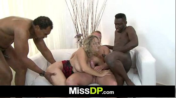 Czech mom Ameli Monk in interracial dp gang bang