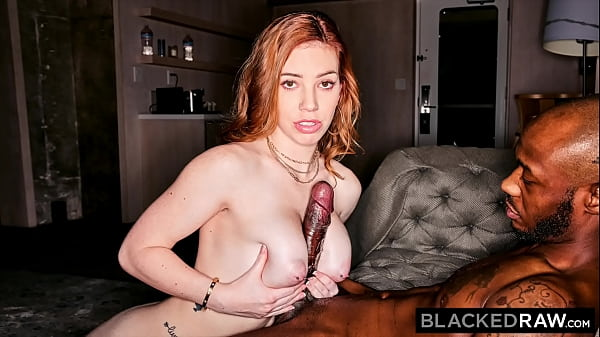 BLACKEDRAW Tiny Redhead is obsessed with huge BBC