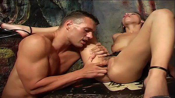 A hot brunette fucked in a mystic place