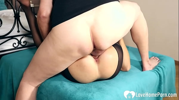 Stepsister in stockings gets penetrated in various positions