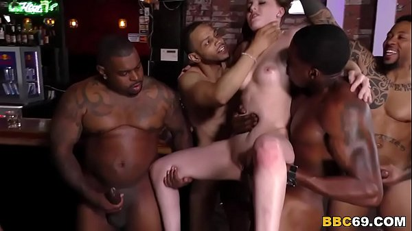 BBC Slut Jenna Marie Gets Creampied After Group...