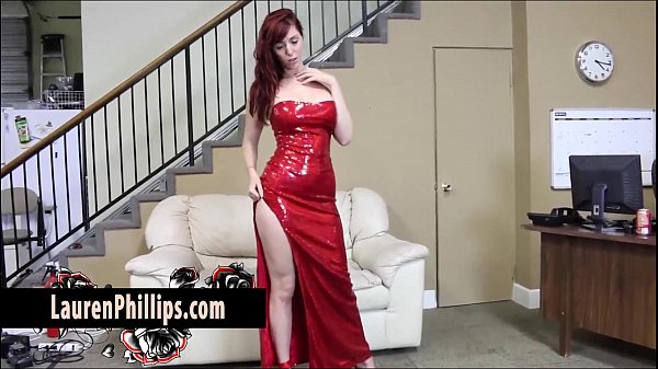 Big Tit redhead Lauren Phillips Plays with her Tight Wet Pussy Thumb