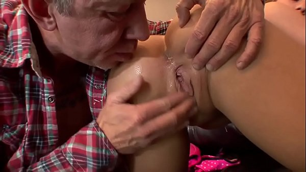 Haley gets fucked by an old man who cums in the ass