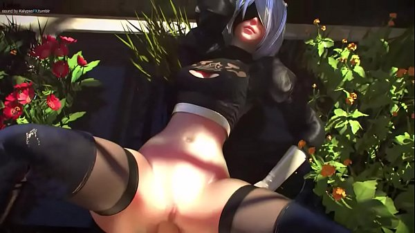 Android 2B Fucked Among The Flowers