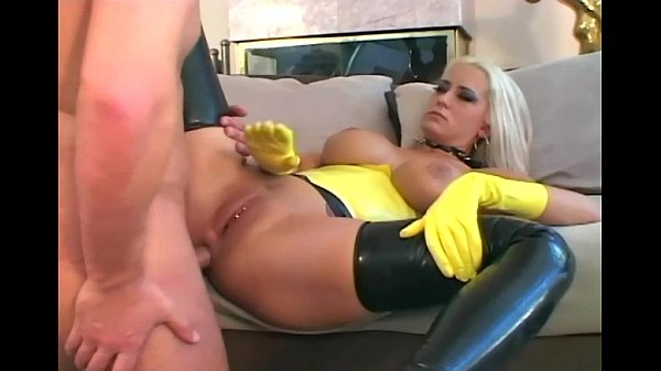 Fucking in latex gloves stilettoes and stockings