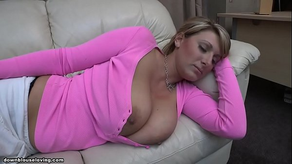 Pink shirt boobs out sleeping - Demi Scott