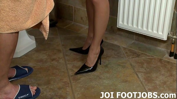 I am dying to give your big cock a footjob JOI