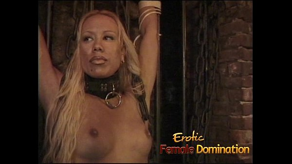 Three lusty bimbos have some kinky lesbian fun in the dungeon
