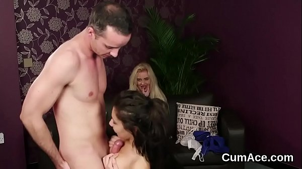 Wicked bombshell gets cumshot on her face swallowing all the cream