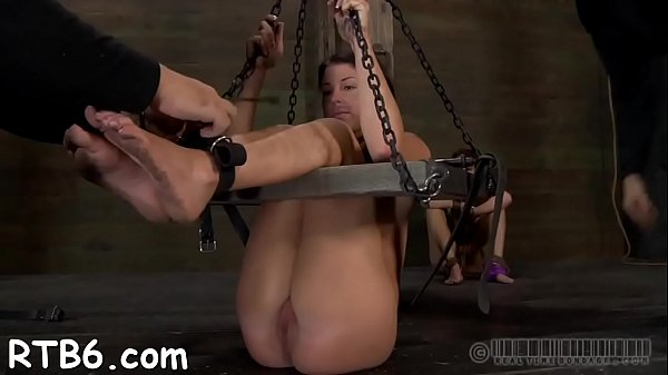 Dominant is torturing babe's bawdy cleft
