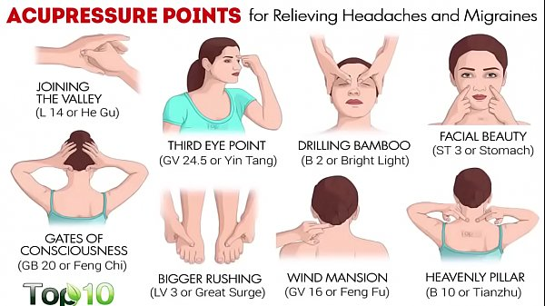 Acupressure Points For Relieving Headaches & Migraines - Traditional Massage