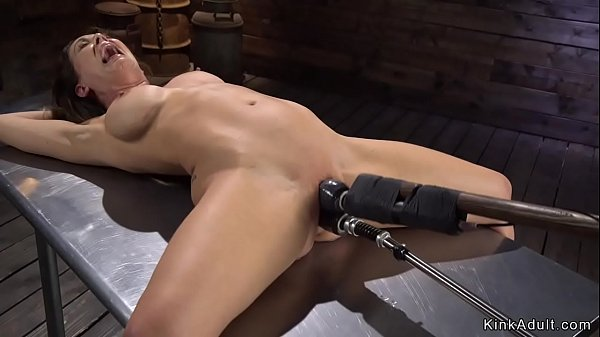 Busty bound Milf is machine banged Thumb