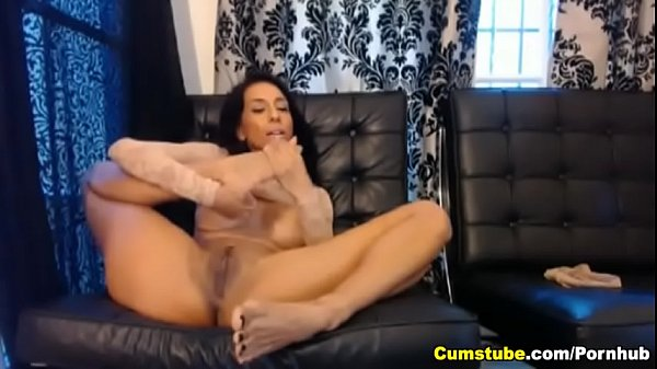 Busty Babe Playing with a Huge Dildo