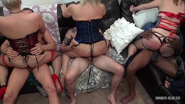 Horny amateur swingers get wild at hardcore sex...
