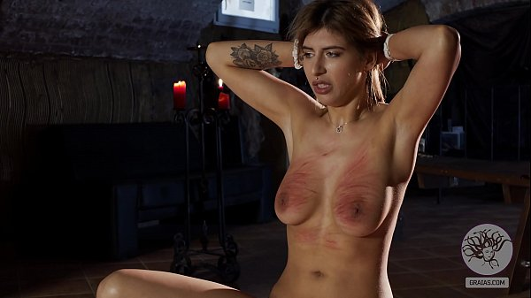 Hipster slut get her tits slapped and whipped