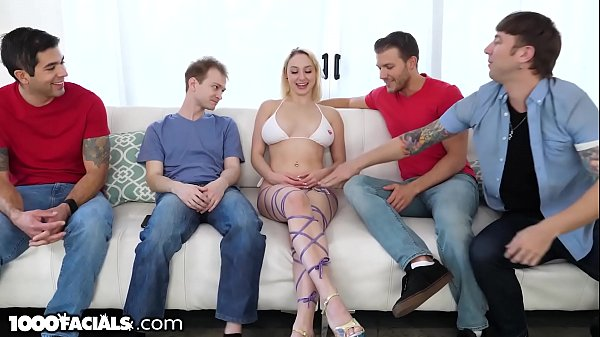 1000Facials - Skylar Vox Shows Off & Blows Stepbrother's Friends