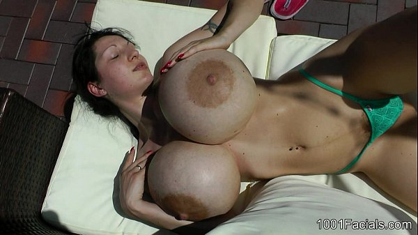 1001-Facials - Penelope Black Diamond Bikini with big load sperm in her face ;) Thumb