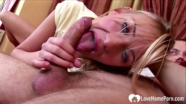 Beautiful blonde babe devours and rides my cock