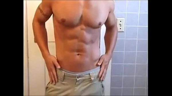 Solo hunk teasing with his body