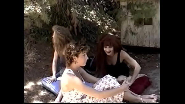 Three slutty girlfriends Satin Sheets, Velvet Blue and Stephanie DuValle love to have lesbian sex on a picnic Thumb