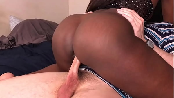 Black Teen Rides White Guys Dick And Gets Cream...