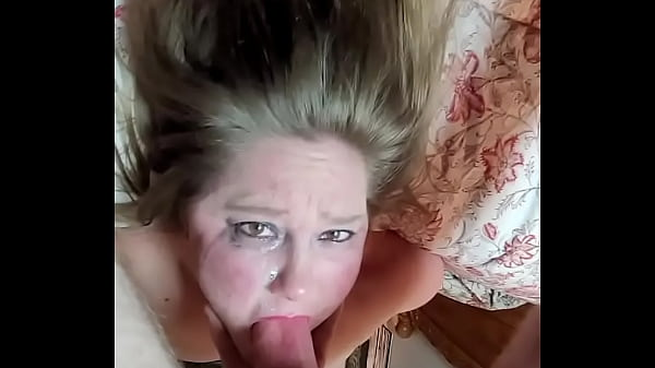 Upside down throat fuck with huge thick cock