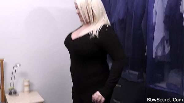 She finds him with fat blonde bitch