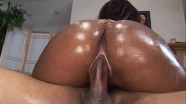 Victory Oils Up Her Big Black Ass & Gets Creampied