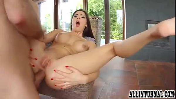 Brunette babe gets fucked hard in ass
