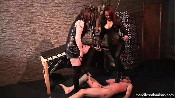 Obey to Our HighHeels - Mistress Rebekka Raynor and Mistress Storm Thumb