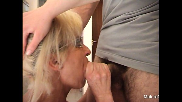 Mature blonde gets anal