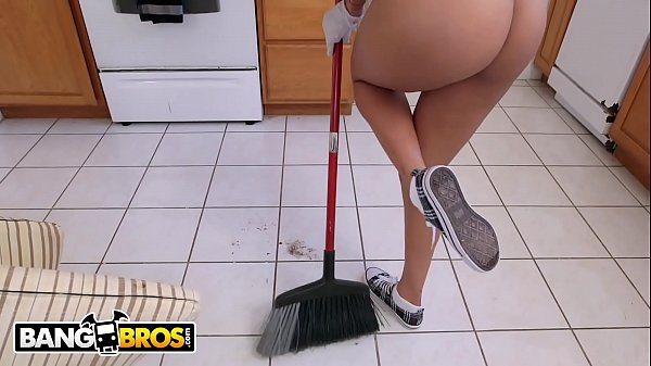 BANGBROS - Latina Maid Abby Lee Brazil Gets Naked And Fucks For Cash