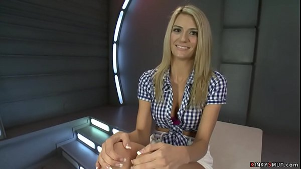 Tall blonde Amanda Tate fuck machine