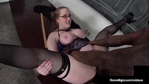 Pink Professor Pussy Andi Ray Blows & Bangs Horny Big Cock Rome Major! Thumb