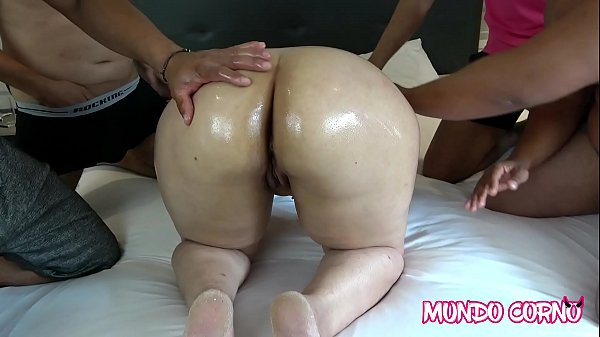 GANGBANG AND SPERM SHOWER WITH CHUBBY MARRIED
