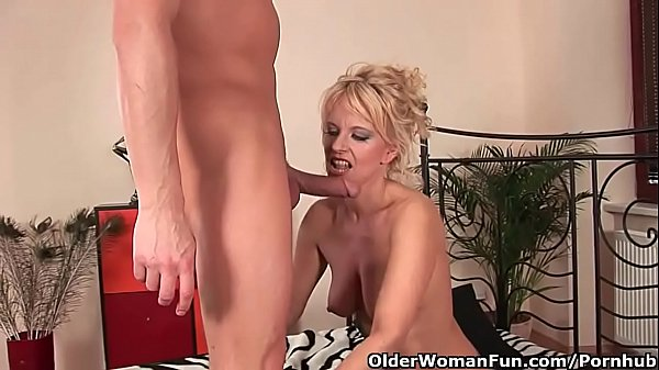 Sultry senior lady works his hard cock Thumb