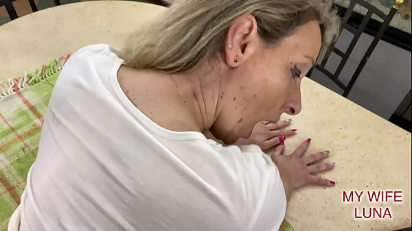 Wife greedy for cock gets fucked and cum on her nice round ass