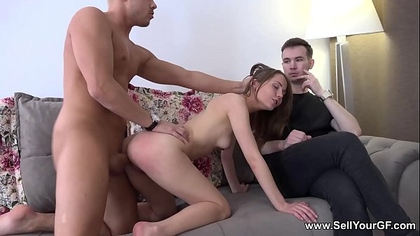 Sell Your GF - Slut Stasia Si fucked for her bf's debt