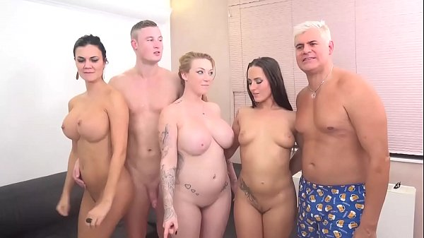 FUCK A FAN Jasmine Jae, Mea Melone and Harmony Reigns Triple Team Czech Guy! Thumb