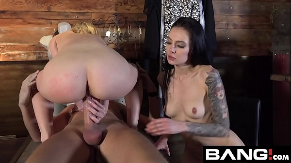 BANG Confessions: Aubrey Sinclair Threesome Fuck in Dressing Room Thumb