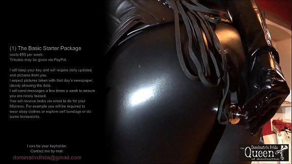Chastity Dominatrix - I can be your Keyholder - chastity Mistress - Queen Dominatrix Frida - I'll send you a padlock and I'll keep the key - Watch this video to see how I practice long distance chastity play and what requirements I have.