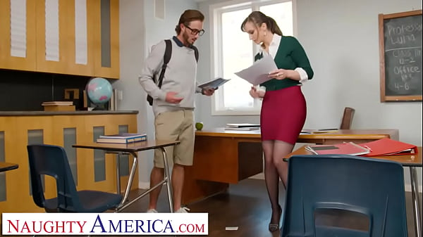 Naughty America - Lexi Luna gives student a testosterone boost by wrapping her pussy around his cock