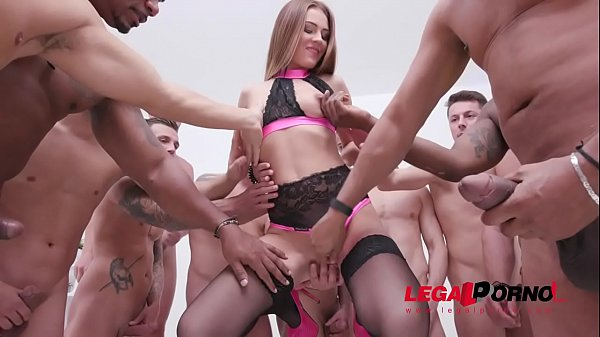 Timea Bella 15-man anal gangbang with DAP, piss drinking & cum swallow SZ2112 Thumb
