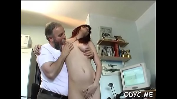 Adorable redhead Jessica with large natural tits gets gash licked
