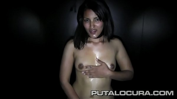 Leila, an amateur brunette who wants to swallow cum in Spanish Glory Hole